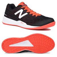 【あす楽対応】 ニューバランス newbalance テニスシューズ メンズ オムニ クレーコート MCO896R2 2E BLACK/REDカラーの画像