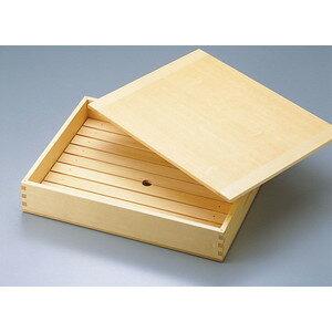 木製「ネタ箱」中[35584]目皿・木製蓋付(抗菌)寿司ネタや刺身に