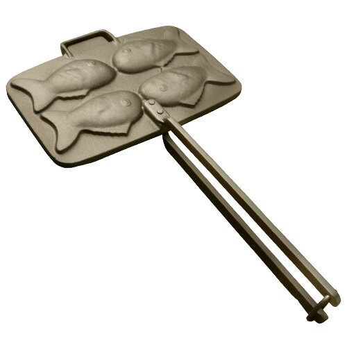 【南部盛栄堂】OIGEN南部鉄器 タミさんシリーズタミさんのたい焼き器F-463(4個焼)...:fujita-cooking:10001590