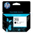 【ブラック4本セット】 HP T520用 純正インク ブラック 80ml グラフィックアートインク/プリントヘッド HP711 インクカートリッジ