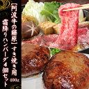 【送料無料】『阿波牛の藤原』のすき焼き用400g&霜降りハン...