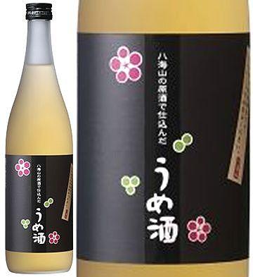 八海山の原酒で仕込んだうめ酒 13度 720ml 黒ラベル