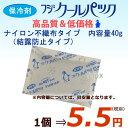 【代引き可】【同梱不可】業務用/保冷剤/フジクールパック(結露防止タイプ)40g 400個入り