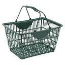 (まとめ買い)ナンシン ショッピングバスケット ダークグリーン SW-28ダークグリーン 00006393 〔3個セット〕