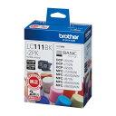(まとめ)ブラザー インクカートリッジLC111BK-2PK LC111BK-2PK 00022013 〔まとめ買い×3セット〕