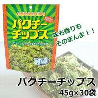 【送料無料】谷貝食品 パクチーチップス 45g×30袋【代引不可】