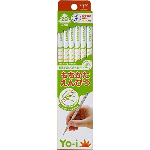 【メール便発送】トンボ鉛筆 鉛筆 Yo-i もちかた 2B 三角軸 右手左手兼用 KE-EY02-2B 1ダース【代引不可】