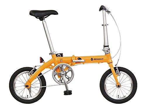 【送料無料】RENAULT(ルノー) LIGHT8 AL-FDB140 オレンジ 軽量アルミフレーム 14インチ コンパクト折りたたみ自転車 本体重量8.3kg 防錆チェーン/ステンレススポーク/スリックタイヤ/ポリッシュリム 【前後ハブ/ギアクランク:アルミ仕様】 11263-1099【】 メーカー:RENAULT(ルノー)、品番:33831
