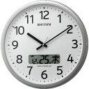リズム時計 電波掛け時計 プログラムカレンダー01SR 4FNA01SR19