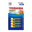 (まとめ買い)東芝 アルカリ乾電池 単4形 4本パック LR03AN 4BP 〔×5〕
