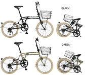 【送料無料】DOPPELGANGER(ドッペルギャンガー) 20インチ 折りたたみ自転車 7段変速 6カラー M6【代引不可】