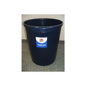 (まとめ買い)ジョインテックス 持ち手付きゴミ箱丸型11.8Lブルー N152J-B5 5個 〔×3セット〕【代引不可】 掃除用品 ゴミ箱 事務用品 業務用お得セット