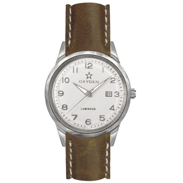 【送料無料】OXYGEN(オキシゲン) 腕時計 SPORT VINTAGE 40(スポーツ ヴィンテージ 40) Fjord(フィヨルド) Classic Leather シルバー【代引不可】