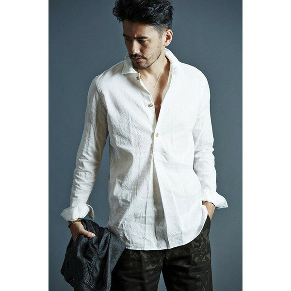 【送料無料】VADEL swedish pull-over shirts WHITE サイズ44【代引不可】