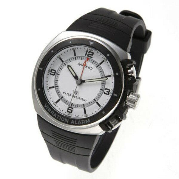 【送料無料】マキシオ激振(白)〔腕時計〕【】 振動で時間を知らせてくれる腕時計!