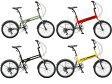 【送料無料】HUMMER(ハマー) 20インチ 折りたたみ自転車 6段変速 FDB206 W-sus【代引不可】