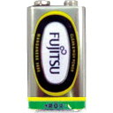 富士通(黒)マンガン乾電池 (角 9V) 〔まとめ買い10個セット〕 36-060