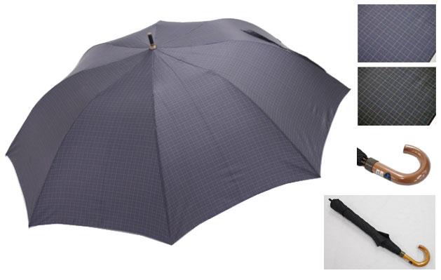 軽くて、小さくて、大きい雨傘 紳士用 70×8P,先染ショートワイド 570 軽くて、小さくて、大きい雨傘