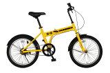 【】HUMMER(ハマー) 20インチ 折りたたみ自転車 イエロー FDB20 MG-HM20【代引不可】