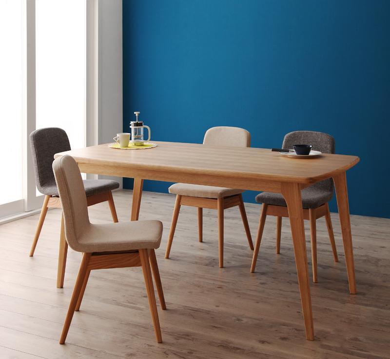 【送料無料】天然木北欧スタイルダイニング〔Onnell〕オンネル/5点セット(テーブル+チェア×4) グレー【】 5点セット(テーブル+チェア×4) グレー【割引】