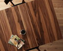 【送料無料】天然木ウォールナットエクステンションダイニング〔Nouvelle〕ヌーベル テーブル(W120-150-180)のみ単品販売【代引不可】