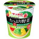 サッポロ一番 グリーンプレミアム たっぷり野菜 タンメン 78g×12個入り (1ケース) (KK)