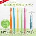送料無料 20本入り(5色各4本) 歯科医院用歯ブラシ FP...