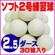 【送料無料】 超特価 ソフトボール 2号 練習球 (スリケン・検定落ち・ナイガイ製) 2.5ダース (30球入り) Training-soft2-30【02P18Jun16】【RCP】