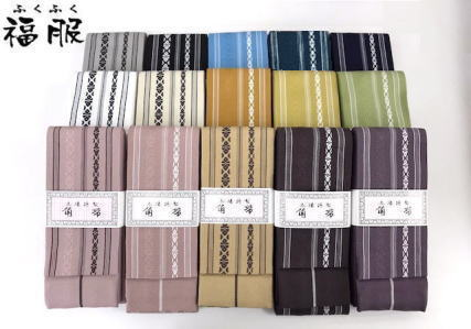 綿 男物 定番商品 献上柄の角帯 各色 日本製
