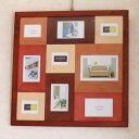 贈り物・ギフト・プレゼントに最適木製壁掛けフォトフレーム 【CW10/90-BR】《大型商品送料600円》