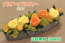 【送料無料】プリザーブドフラワーSA2(オレンジ)