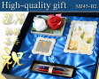 《名入れ彫刻》黒箱ギフトセット007【MJ45Set/パーカーIMボールペン2本】フォトフレーム/ミラープレート/お祝い/敬老の日/結婚祝い/ギフト/ウェディング/還暦祝い/ウェルカムボード/ミラーメッセージフレーム/Gift Set/PARKER