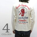TEDMAN'S / テッドマン 抜染プリント長袖Tシャツ TDLS-282