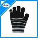asics(アシックス) ミニグローブ(伸縮タイプ) 手袋 サイズフリー XAG067 ブラック×チャコール