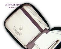 ☆エッティンガー【ETTINGER】■●NAVY-WHITE-PURPLEコレクションZIPPEDWALLET4C/C&COINPURSE(ジップウォレット4C/カード&コインパース)2097JR