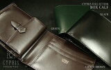 キプリス・CYPRIS/COLLECTION ボックスカーフ/二つ折り・財布(小銭付札入)4510 (メンズ レザー ウォレット 革製) 【】