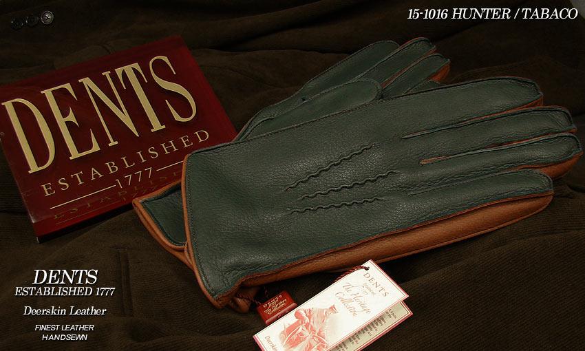DENTS手袋 / デンツ手袋 / DEERSKIN [ HUNTER × TOBACCO ] 15-1016 H/T 【楽ギフ_包装】