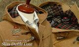 """■TRAD SALE! GLOVERALL / グローバーオール ダッフルコート メンズ """" 50th Anniversary Check """" スリムダッフルコート ( TAN・タン色 ) 3512AC ●"""