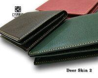 【キプリス/CYPRIS】DeerSkin2(ディアスキン2)/名刺入れ(通しマチ)2354