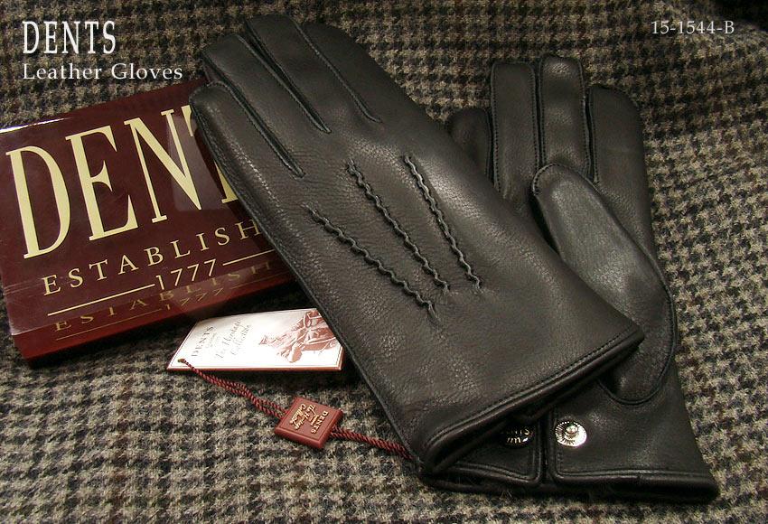 DENTS手袋 / デンツ手袋 / DEERSKIN [ ブラック / BLACK ] 15-1544B 【楽ギフ_包装】