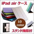 「iPad Air 専用 ケース 超薄い iPad Air カバー」 iPad 第5世代 スタンドタイプ スマートカバー ON/OFF 自動スリープ機能つき case 柔らかい素材(PU+PC) アイパッド・エア ケース