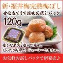 梅干し:新・福井梅完熟梅ぼし甘仕立てうす塩味お試しパック120g10P05Nov16