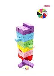 【先着50名限定2899円】木製 ジェンガ 積み木 6色 48ピース 知育玩具 子供 大人 おもちゃ 積み木・ドミノ・ブロックとしても遊べる <strong>アンバランス</strong>