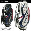 カタナ ゴルフ スウォード キャディバッグ SWC-25 9型 3.8kg 46インチ対応 口枠6分割 KATANA GOLF SWORD BAG