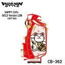 楽天フルショット楽天市場店【2020モデル】ウィンウィンスタイル CB-362 ハッピイキャッツ カートバッグ HAPPY CATs CART BAG GOLD Version LEM ゴルフキャディバッグ WINWIN STYLE 限定モデル