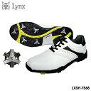 【2017モデル】リンクス LXSH-7568 スパイク付き ゴルフシューズ ホワイト×ブラック LYNX