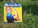 【 エンボスメタルサイン67 】WE CAN DO IT【レトロ 看板 メタルサイン アメ雑 アメリカン雑貨 ガレージ 】