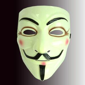 【 532P17Sep16 】クリスマス ハロウィン / 仮装 / マスク / コスプレ アノニマス マスク【 メール便不可 】