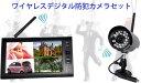 モニター+ワイヤレスカメラ1台セット 動体検知録画機能 SDカード動画保存 カメラ追加オプションあり 4CH同時接続 4分割画面表示可能 7インチ 赤外線暗視 W807