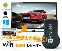 HDMIドングルレシーバー スマホの映像を大画面で Wifi ワイヤレス ミラーリング 1080P 無線 iPhone Android Mac Windows対応 Airplay スマホを無線でテレビに ANYC1080